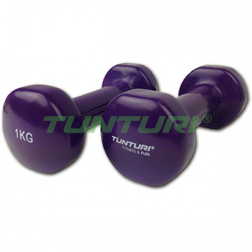 Гантели для фитнесса Tunturi винил 2х1 кг, код: 14TUSFU109