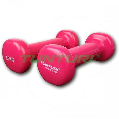 Гантели для фитнесса Tunturi винил 2х0,5 кг, код: 14TUSFU108