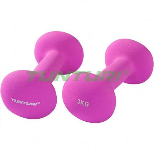 Гантели для фитнесса Tunturi неопрен 2х3 кг, код: 14TUSCL377
