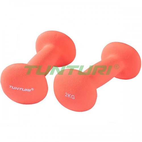 Гантели для фитнесса Tunturi неопрен 2х2 кг, код: 14TUSCL376