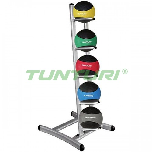 Стойка с медболами Tunturi 1-5 кг, код: 14TUSCL317-322