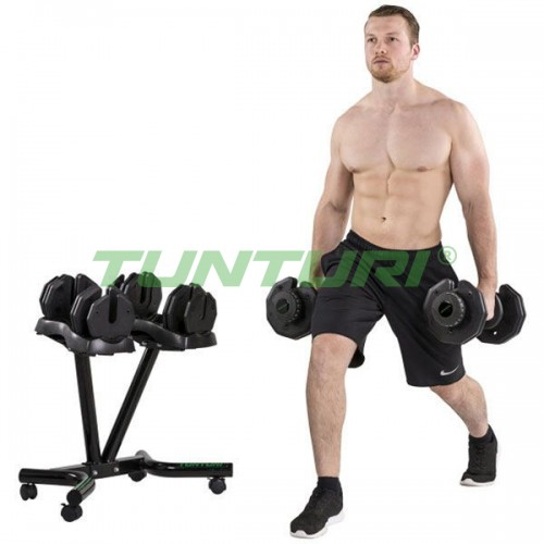 Гантели Tunturi 2х24 кг. (со стойкой), код: TUD24