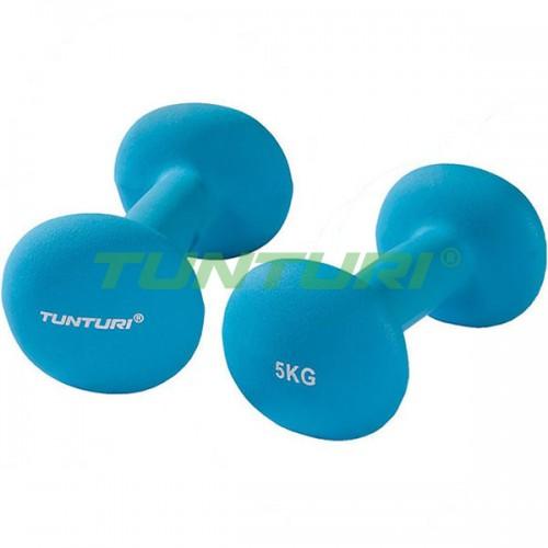Гантели для фитнесса Tunturi неопрен 2х5 кг, код: 14TUSCL379
