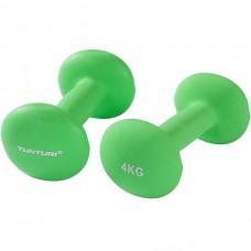 Гантели для фитнесса Tunturi неопрен 2х4 кг, код: 14TUSCL378