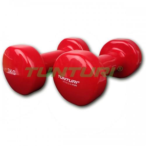 Гантели для фитнесса Tunturi винил 2х3 кг, код: 14TUSFU111